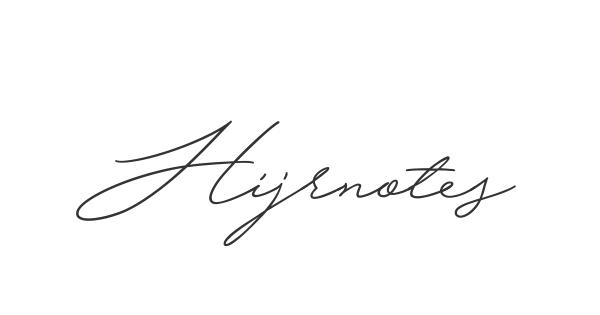 Hijrnotes font thumbnail