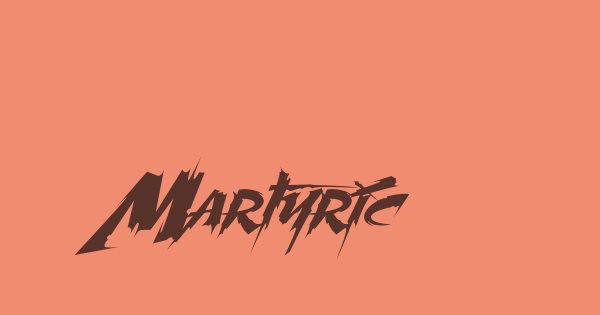 Martyric font thumb