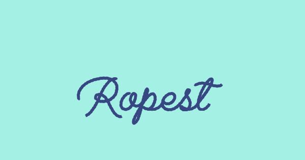 Ropest font thumb