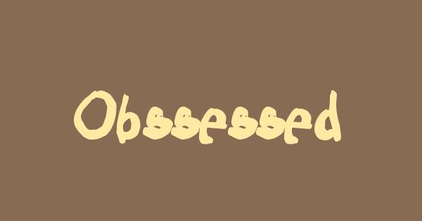 Obssessed font thumb