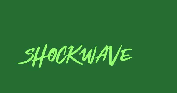Shockwave font thumb