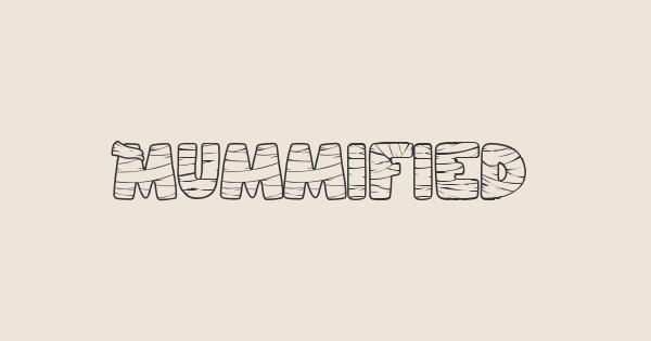 Mummified font thumb