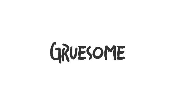 Gruesome font thumb
