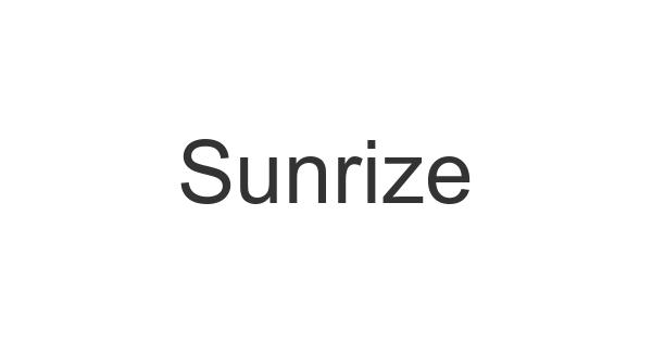 Sunrize font thumb