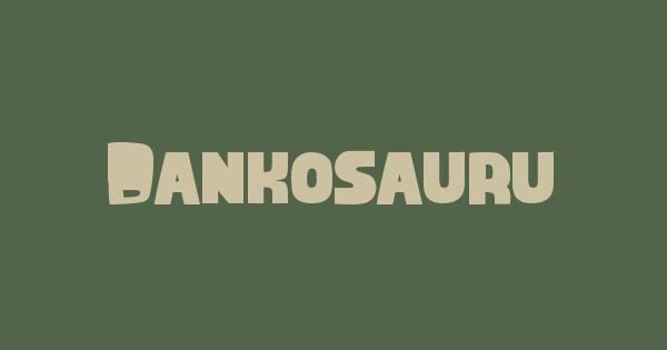 Dankosaurus font thumb