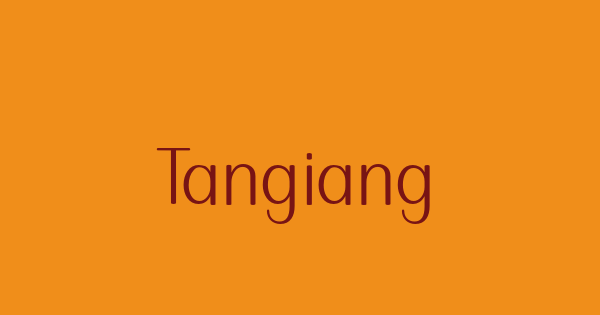 Tangiang font thumb