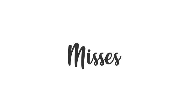 Misses font thumb
