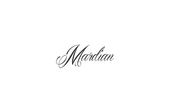 Mardian font thumbnail