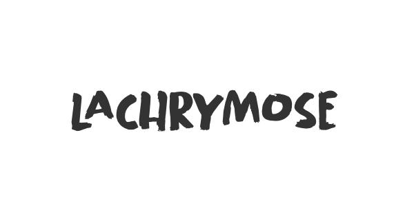 Lachrymose font thumb