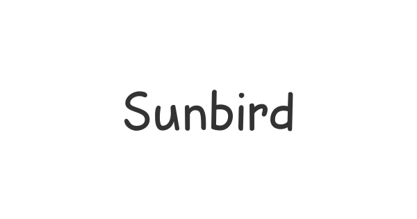 Sunbird font thumb