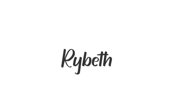 Rybeth font thumb
