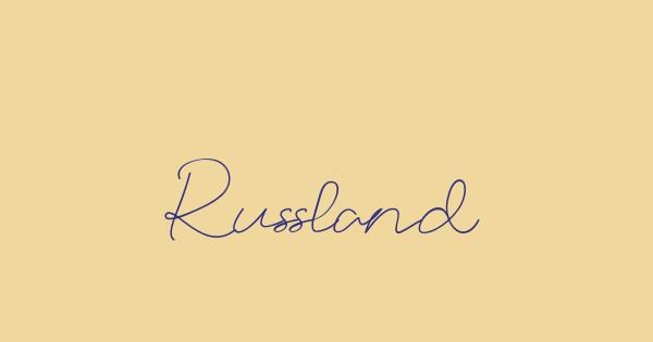 Russland font thumb