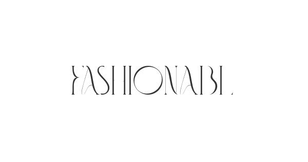 Fashionable font thumb