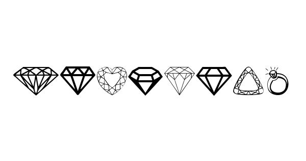 Diamonds font thumbnail