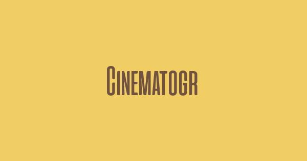Cinematografica font thumb