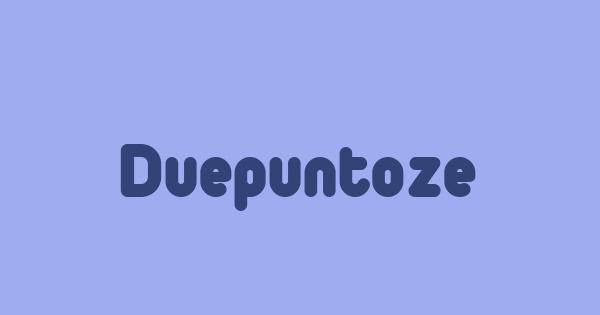Duepuntozero font thumb