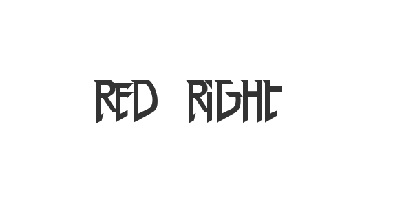 Red Right Hand font thumb