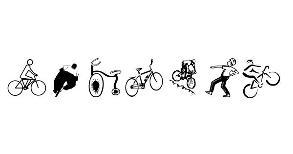 Cycling font thumbnail