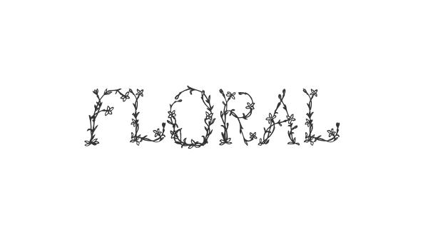 Floral font thumb