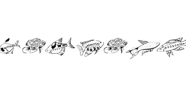 Fishing font thumbnail