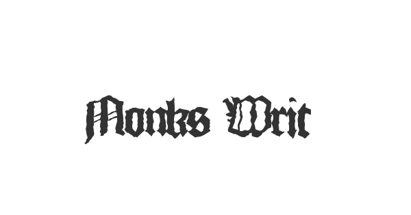 Monks Writing font thumb