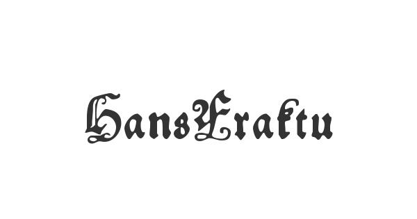 HansFraktur font thumb