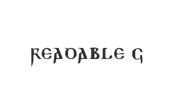 Readable Gothic font thumb