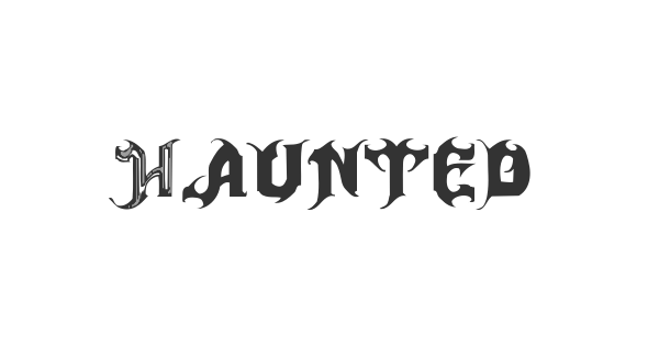 Haunted font thumb