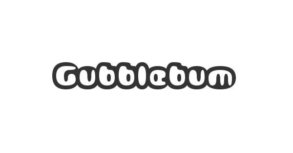 Gubblebum font thumb