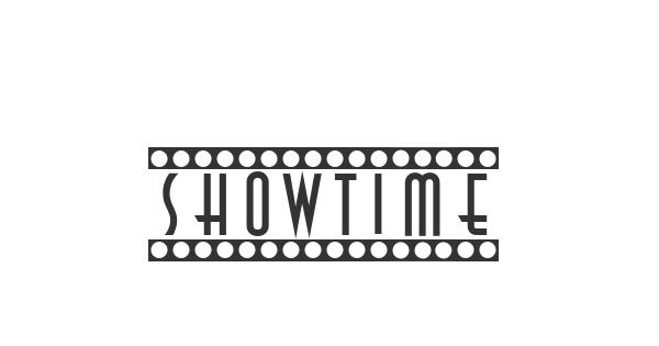 Showtime font thumbnail