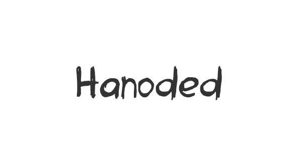 Hanoded font thumb