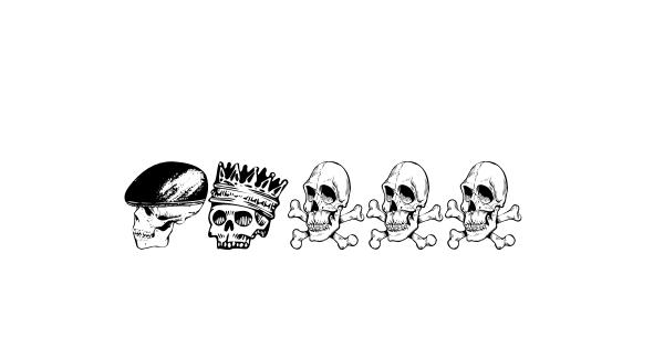 Skull font thumb
