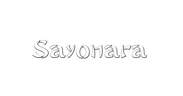 Sayonara font thumb