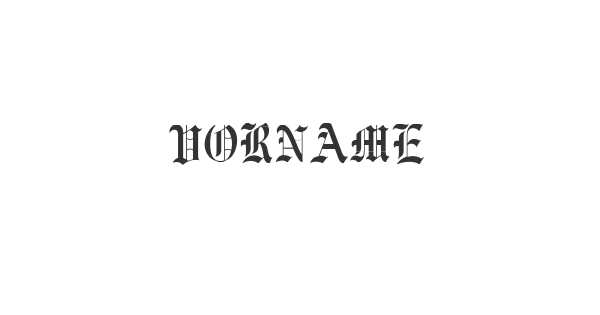 Vorname font thumb