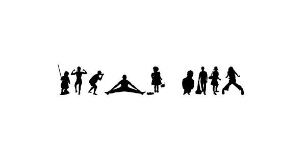 Human Silhouettes Five font thumb