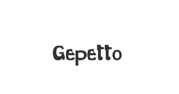 Gepetto font thumb