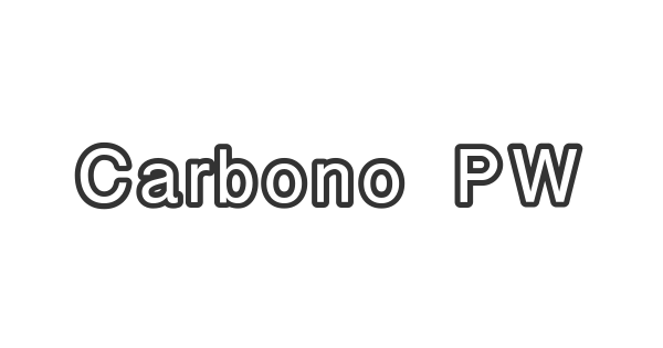 Carbono PW font thumb