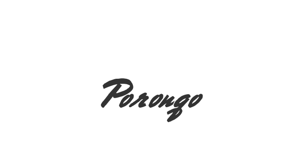 Porongo font thumbnail