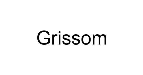 Grissom font thumbnail