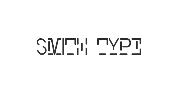 Smith Typewriter font thumb
