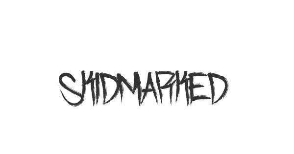 Skidmarked font thumb
