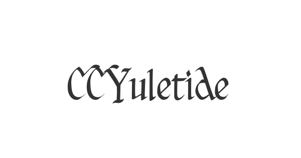 CCYuletideLog Regular font thumb