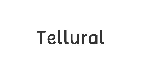 Tellural font thumb