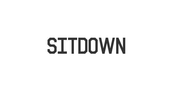 Sitdown font thumb
