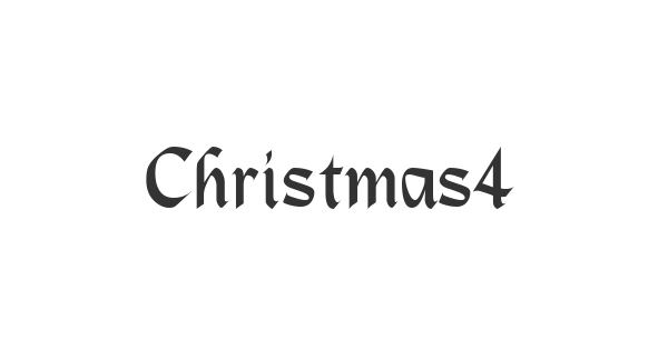 Christmas4 Regular font thumb