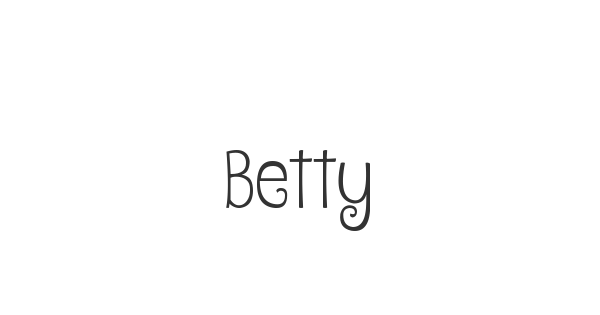 Betty font thumb
