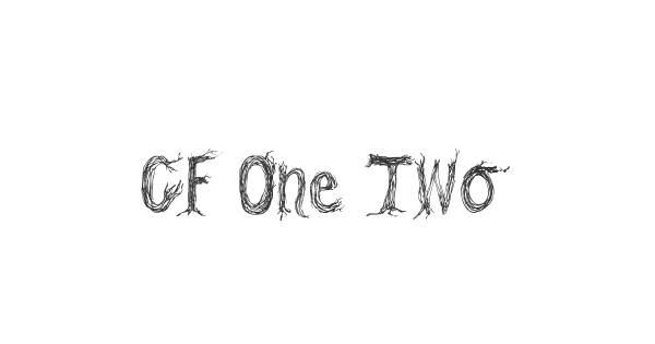CF One Two Trees font thumbnail