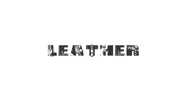 Leather font thumbnail
