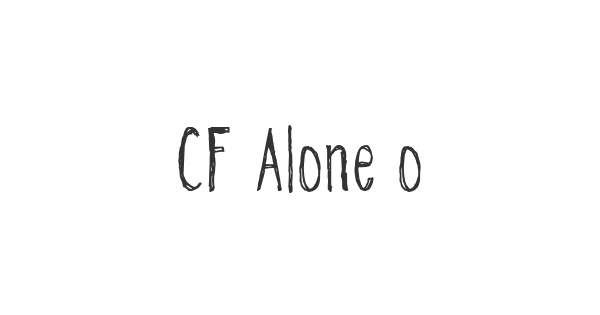 CF Alone on the Earth font thumbnail