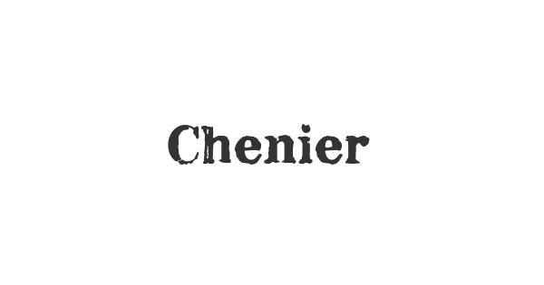 Chenier font thumbnail